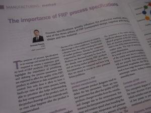 Article regarding Process Specs in JEC Composite Magazine