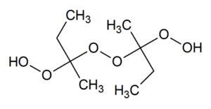 メチルエチルケトンパーオキサイド methyl_ethyl_ketone_peroxide は不飽和ポリエステルのラジカル硬化剤の一つ